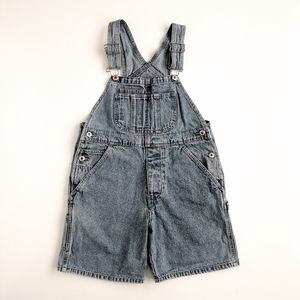 Vintage GAP Denim Shorts Overalls Jean M Kids